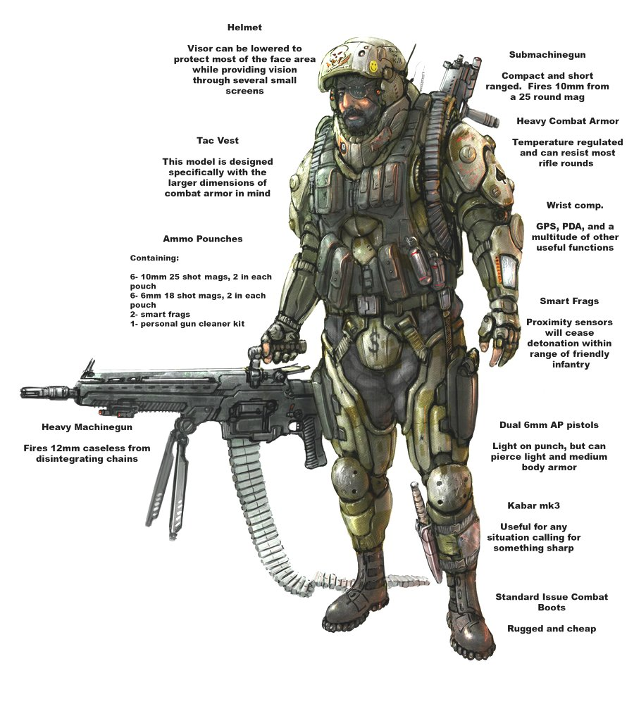 Military special forces gear - Militech Ghost Suit Used By Special Forces When Stealth Is Of The Utmost Importance Unlike Their Modern Military Counterparts This Suit Of Therm Optic